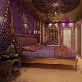 Восточный стиль в оформлении спальной комнаты