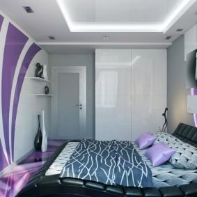 Декоративная подсветка потолка в маленькой спальне