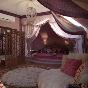 Приглушенное освещение в спальной комнате