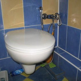 Компактный унитаз в небольшом туалете