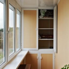 самодельный шкаф с распашными створками