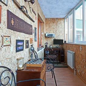 Кованная мебель в дизайне балкона