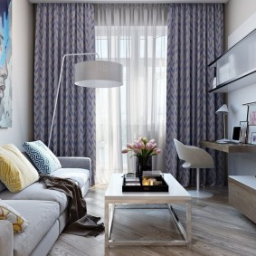 Современная живопись в интерьере гостиной комнаты