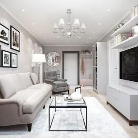 Дизайн гостиной комнаты в квартире панельного дома