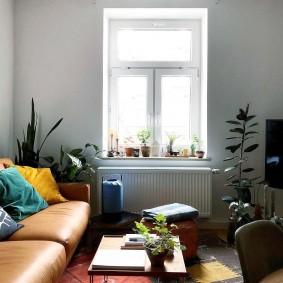 Уютная гостиная небольшой площади