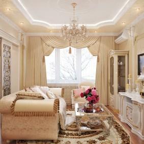 Классический интерьер двухкомнатной квартиры