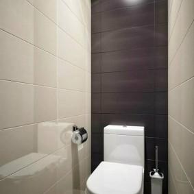 Коричневые акценты в интерьере туалета