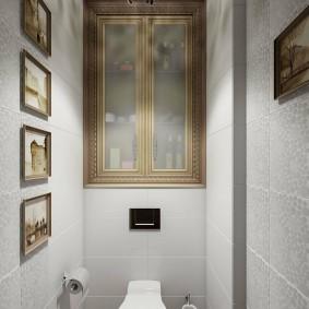 Декор отдельного туалета в двухкомнатной квартире