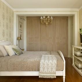 Меблировка спальни в пастельных тонах