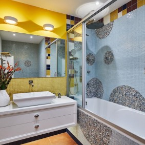 Стильное оформление интерьера ванной комнаты