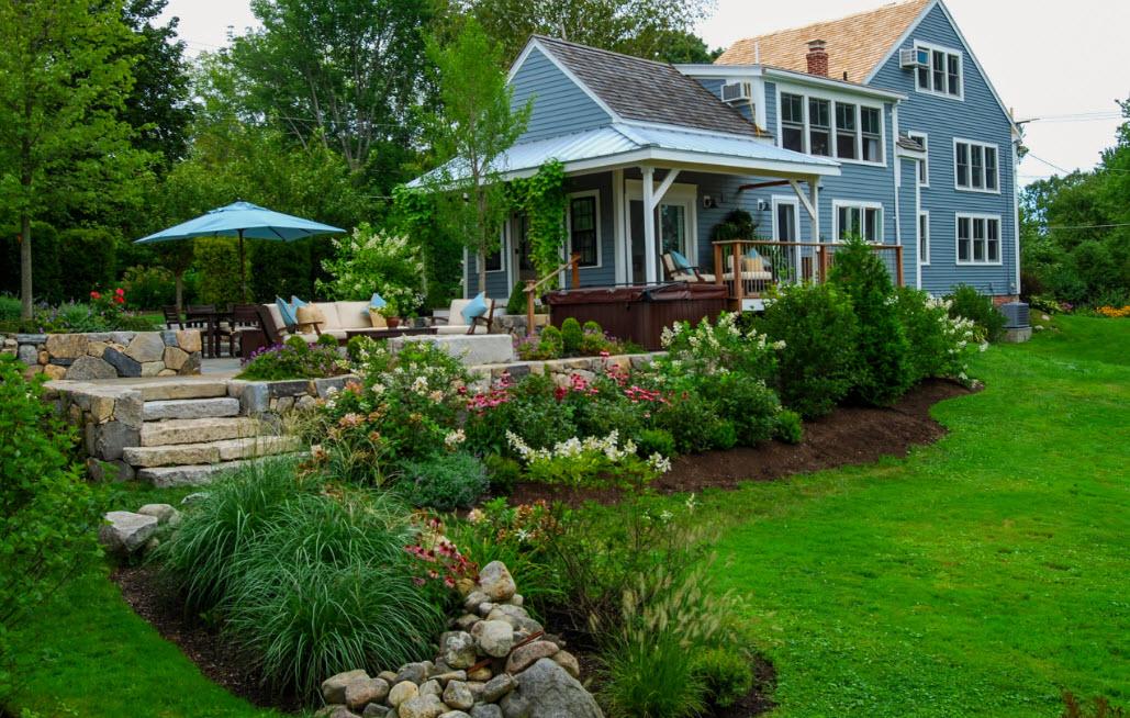 красивые ландшафты частных домов фото рокарий будет долгие