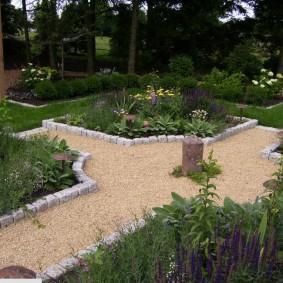 Садовая дорожка с гравийной засыпкой