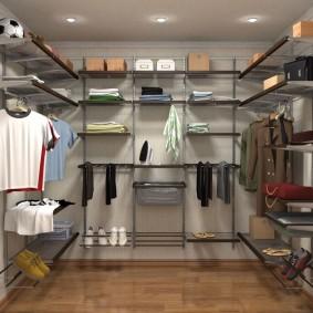 Стеллажная система хранения одежды и вещей