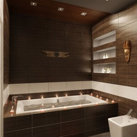 Декоративные ниши в дизайне ванной