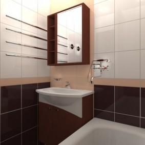 Зеркальный шкафчик над умывальником в ванной