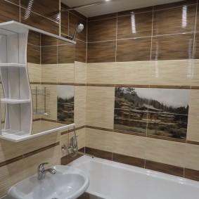Фотопанно на стене ванной комнаты
