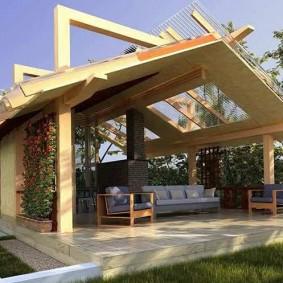 Дизайн садовой беседки в современном стиле