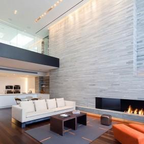 Освещение в двухуровневых апартаментах в современном стиле
