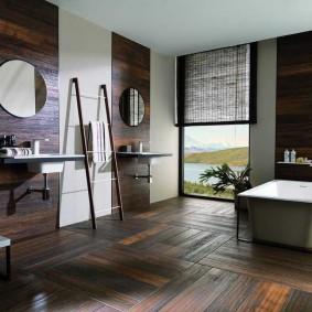 Роскошная ванная комната большой площади