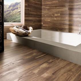 Встроенная ванна в комнате частного дома