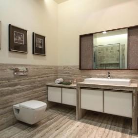 Интерьер ванной комнаты в светлых тонах