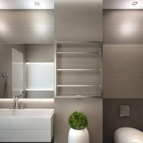 Лаконичный дизайн ванной комнаты в стиле минимализма