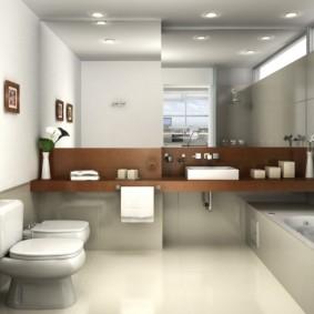 Освещения ванной комнаты в современном стиле