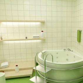 Подсветка ниши в стене ванной комнаты