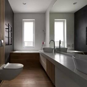 Керамическая столешница в ванной комнате
