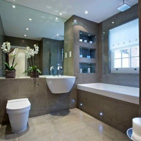 Отделка ванной комнаты крупноформатной плиткой