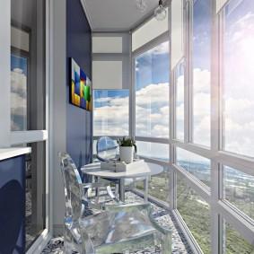 Естественное освещение панорамного балкона