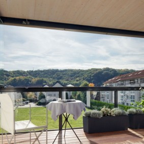 Панорамное окно на алюминиевом каркасе