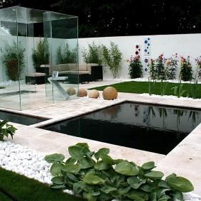 Оформление сада в стиле хай-тек