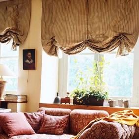 Модные шторы с пышными складками