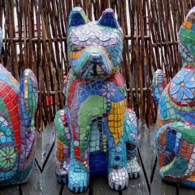 Цементные скульптуры собачек своими руками