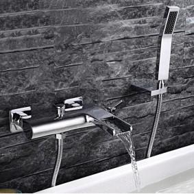 Отделка стены ванной искусственным камнем