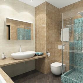Дизайн современной ванной с выступом в стене