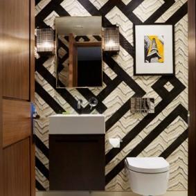 Модное оформление ванной комнаты
