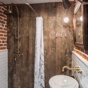 Интерьер современной ванной в стиле лофта