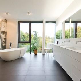 Декор ванной комнаты в стиле минимализма