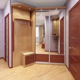 Дизайн прихожей в квартире с купейным шкафом