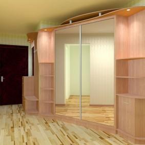 Дизайн углового шкафа в прихожую комнату