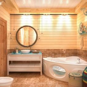 Акриловая ванна с джакузи в комплекте