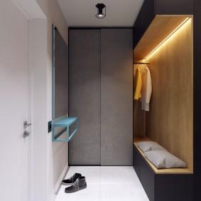 Мебель в прихожей минималистического стиля
