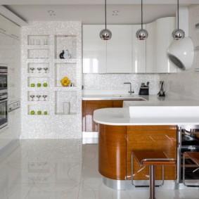 Глянцевая кухня в современном стиле