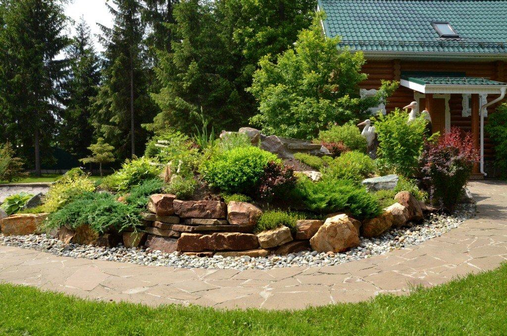 Альпийская горка в ландшафтном дизайне садового участка