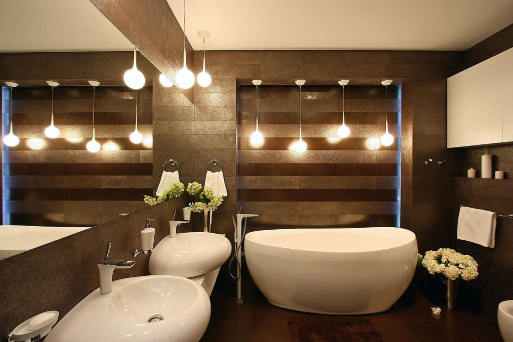 Декор совмещенной ванной в современном стиле