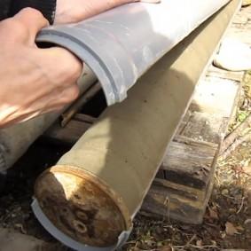 Круглый бетонный столб для забора своими руками