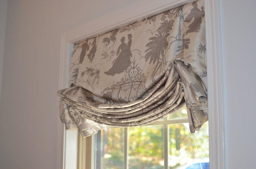 Фото лондонской шторы с красивыми складками