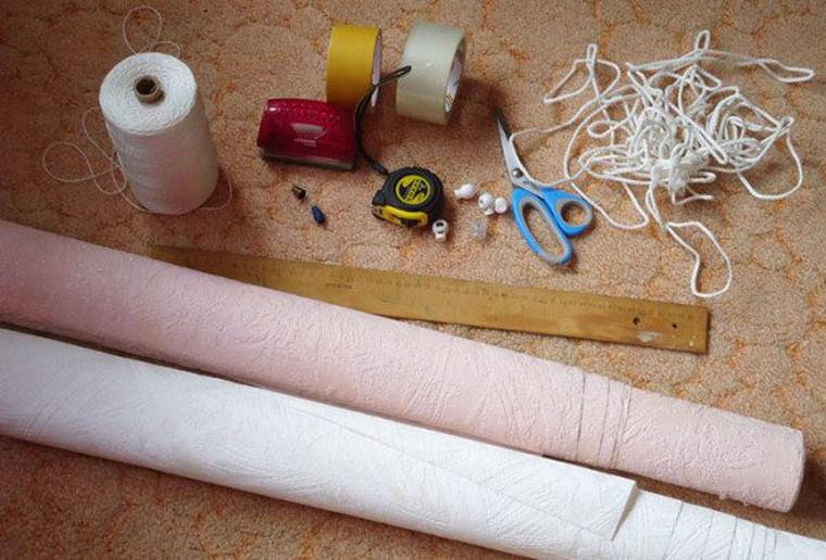 Материалы для изготовления своими руками штор из обоев